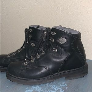 Harley-Davidson side zip leather motorcycle Boots